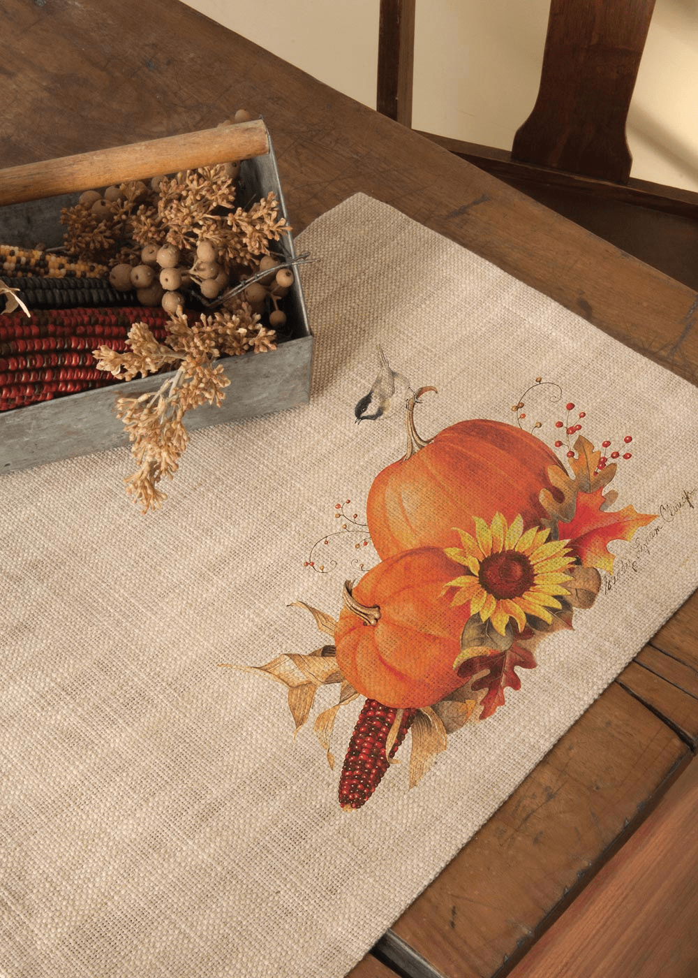 Harvest Pumpkin Large Table Runner