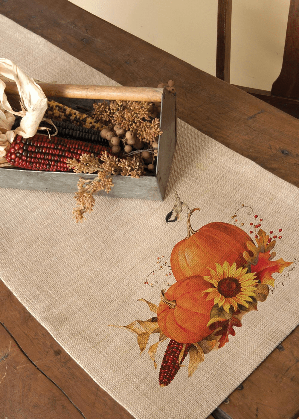 Harvest Pumpkin Small Table Runner
