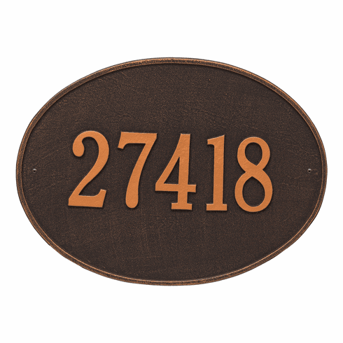 Hawthorne Oval Estate Wall One Line Plaque in Oil Rubbed Bronze
