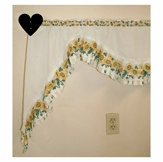 Heart Curtain Rod Holder Pair