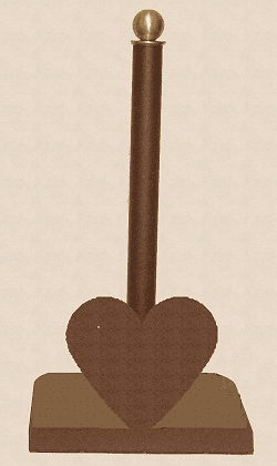 Heart Paper Towel Holder