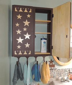 Hearts and Stars Utility Cabinet