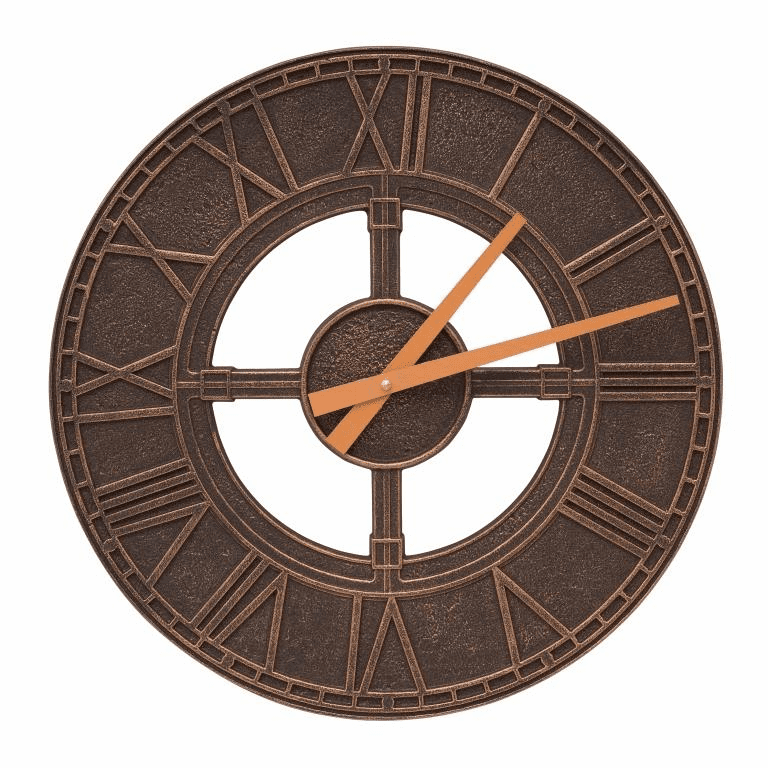 Hera 16 inches Indoor Outdoor Wall Clock - Oil Rubbed Bronze