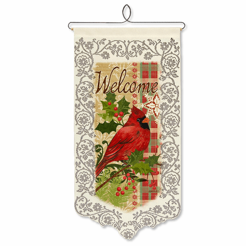 Holiday Wall Decor, Cardinal with Holly
