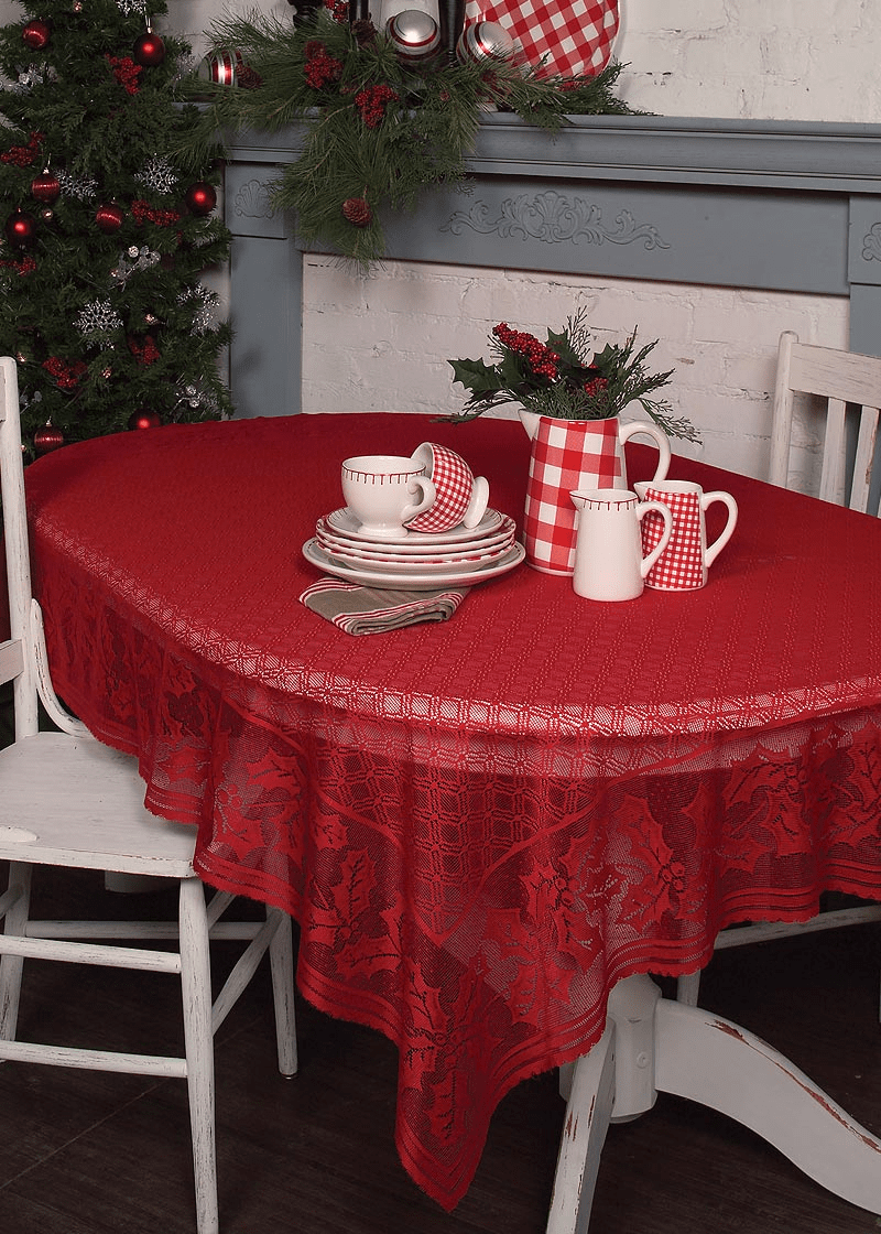 Holly Vine Large Rectangle Tablecloth