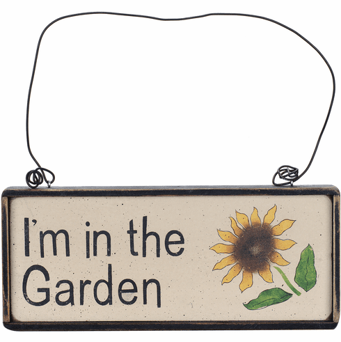 Home Garden Decor - I'm In The Garden (Sunflower)
