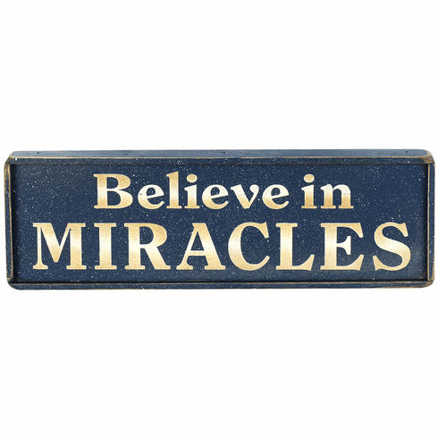 Home Office Decorating - Believe In Miracles