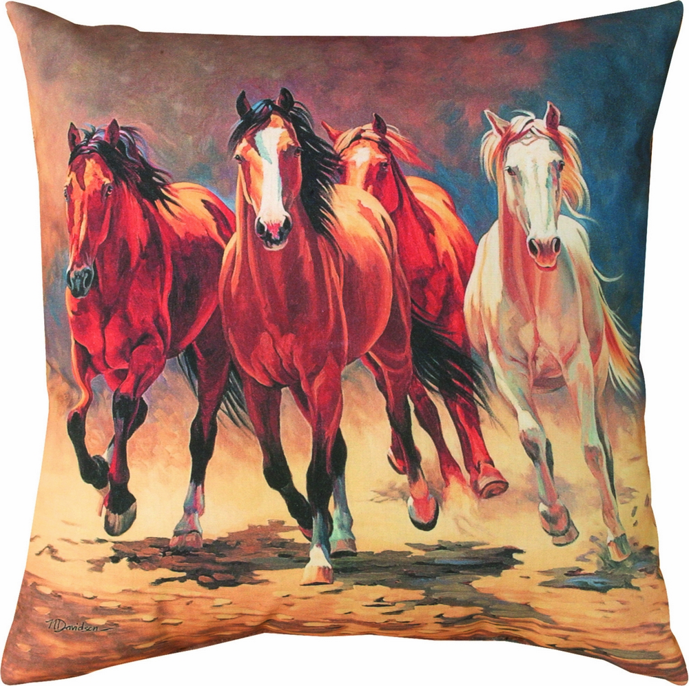 Hoofbeats and Heartbeats of Horses Climaweave Pillow