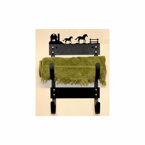 Horse and Barn Multiple Towel Rack