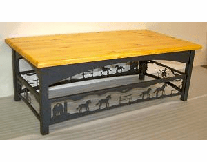 Horse and Barn Rustic Coffee Table