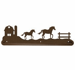 Horse and Barn Scenery Scenery Towel Bar