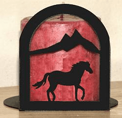 Horse Arched Candle Holder