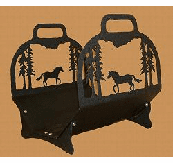 Horse Big Lodge Log Holder