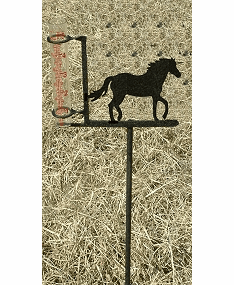 Horse Design Rain Gauge - Horse Ranch Decoration