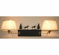 Horse Double Swing Arm Wall Lamp