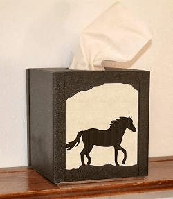 Horse Facial Tissue Box Cover