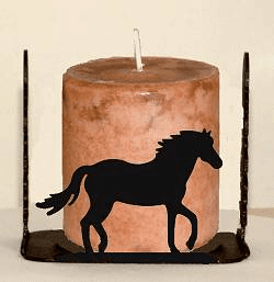 Horse Four Sided Candle Holder