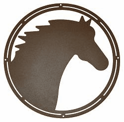 Horse Head Circle Wall Art