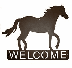 Horse Horizontal Welcome Sign