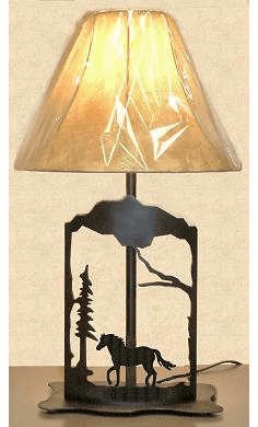 Horse Metal Art Table Lamp