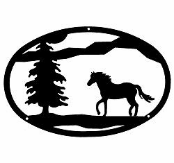 Horse Oval Wall Art