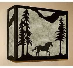 Horse Rectangular Sconce