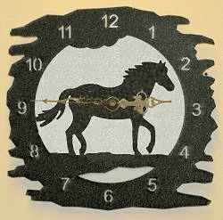 Horse Rough Edge Wall Clock