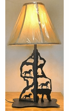 Horse Scenery Style Table Lamp