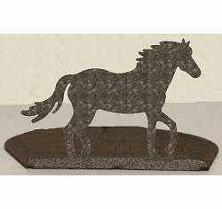 Horse Silhouette Candle Holder