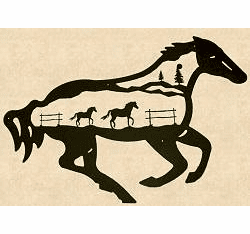 Horse Silhouette Wall Art - 4 sizes