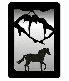 Horse Small Accent Mirror Wall Art