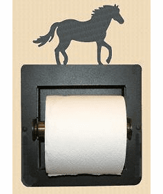 Horse Toilet Paper Holder (Recessed)