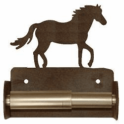 Horse Toilet Paper Holder (Spring Bar)
