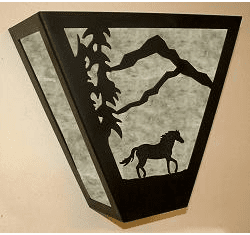 Horse Triangular Sconce Light
