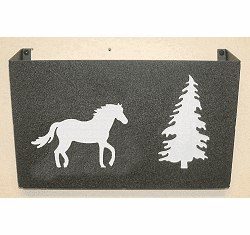 Horse Wall Mount Magazine Rack