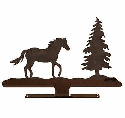 Horse with Tree Mailbox Top