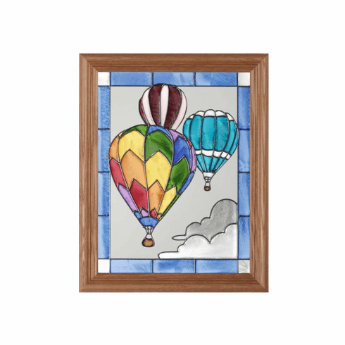 Hot Air Balloons Stained Glass Art Glass