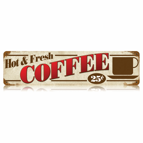 Hot and Fresh Coffee Sign - Coffee House Plaque