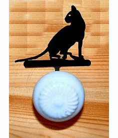 House Cat Drawer Knob Backing Plate