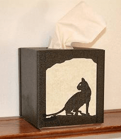 House Cat Facial Tissue Box Cover