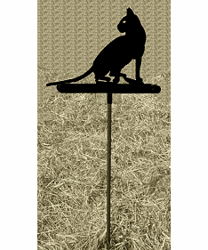 House Cat Garden Stake