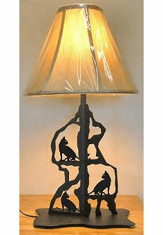 House Cat Scenery Style Table Lamp