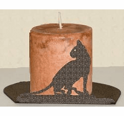 House Cat Silhouette Candle Holder