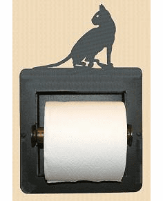 House Cat Toilet Paper Holder (Recessed)
