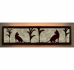 House Cat Valance Style Bath Vanity Light