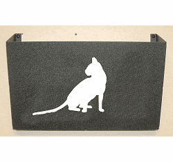 House Cat Wall Mount Magazine Rack