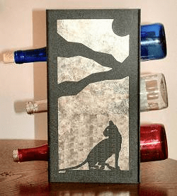 House Cat Wine Bottle Rack