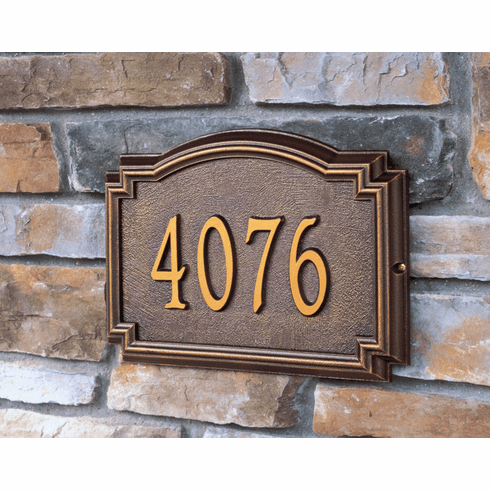 House Number and Street Name Plaque - Williamsburg Style