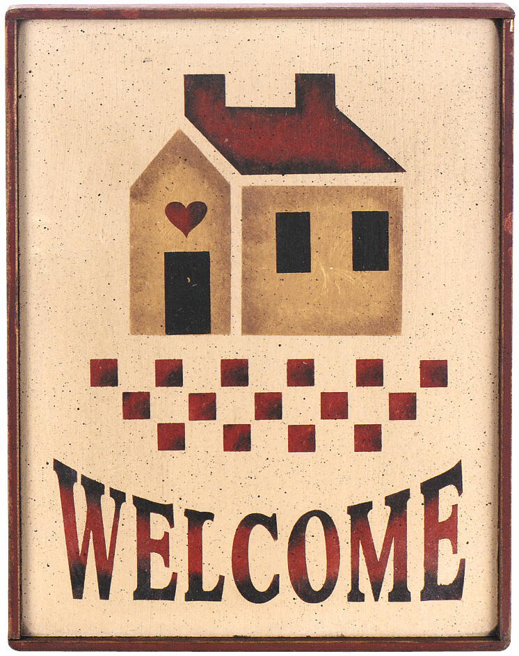 Housewarming Present - Welcome (With House) Sign