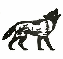 Howling Wolf Wall Silhouette - Cabin Decor